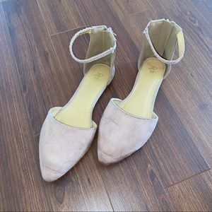 Refresh Blush Pink Suede Pointed Toe Flats